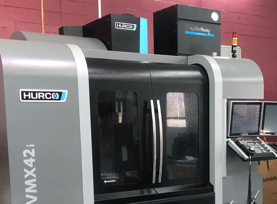 MA700 Mistaway Mist Collector installed on Hurco Machining Center