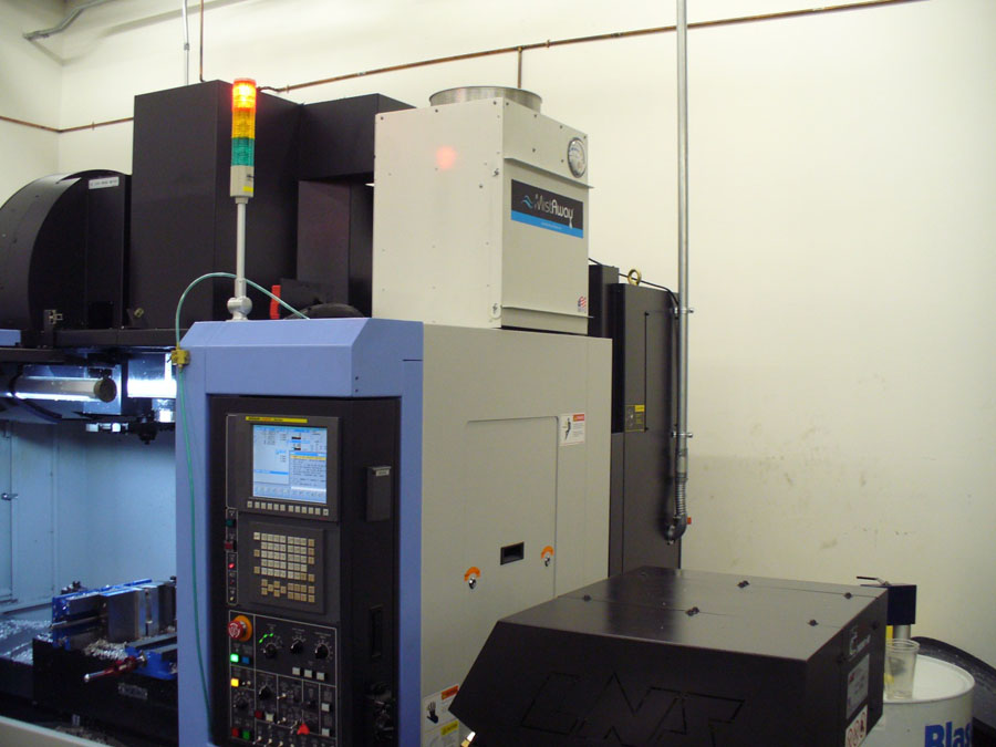 MA700 Mistaway oil Mist Collector system installed on a Doosan DNM400 Milling Machine